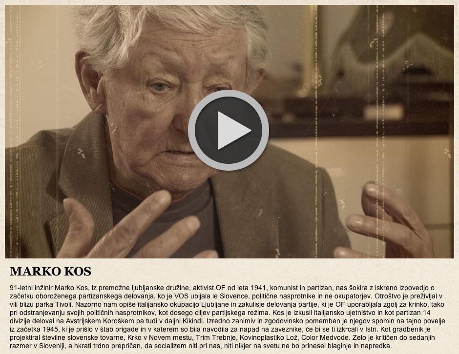 Marko Kos, Pričevalci TV SLO1