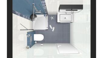 Izris kopalnic - tloris