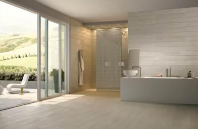 Moderne talne ploščice v kopalnici