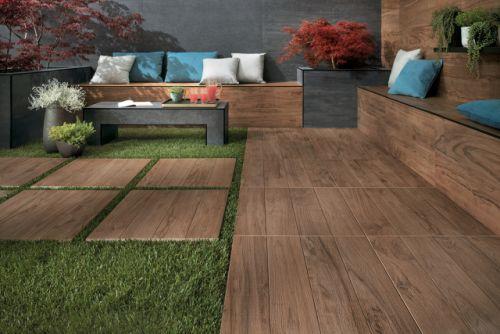 Imitacija lesa na terasi
