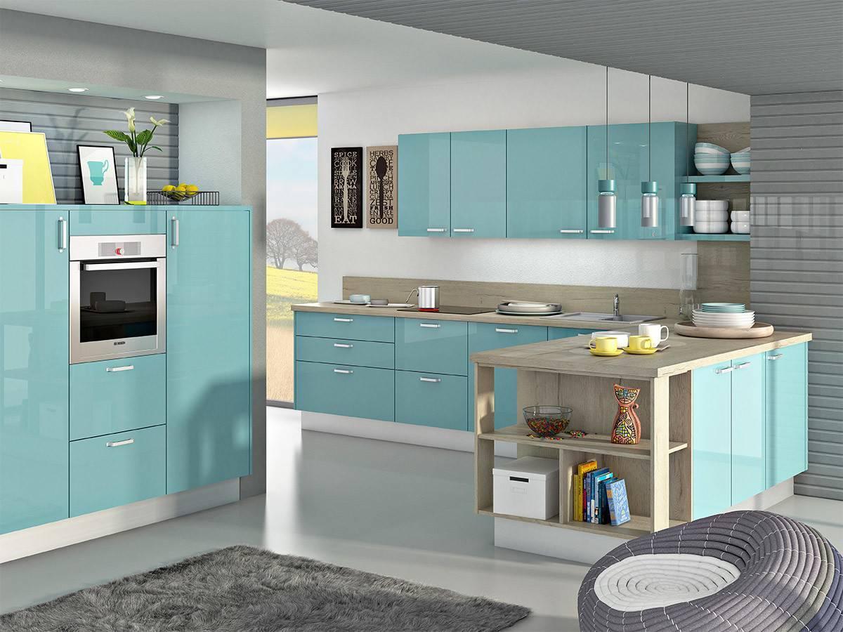 Sodobne kuhinje Svet barv