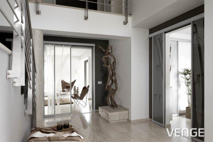 Vgradne omare z drsnimi vrati za predsobo