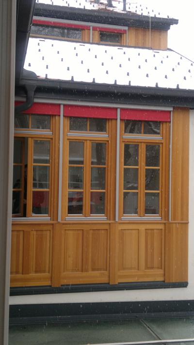 Mizar Volčja Draga   Lesena okna