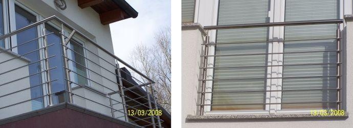 Kovinske balkonske moderne ograje