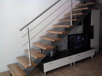 Notranja inox stopniščna ograja