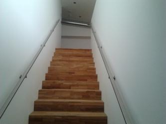 Notranja stopniščna ograja iz inoxa