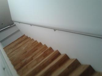 Inox notranja stopniščna ograja