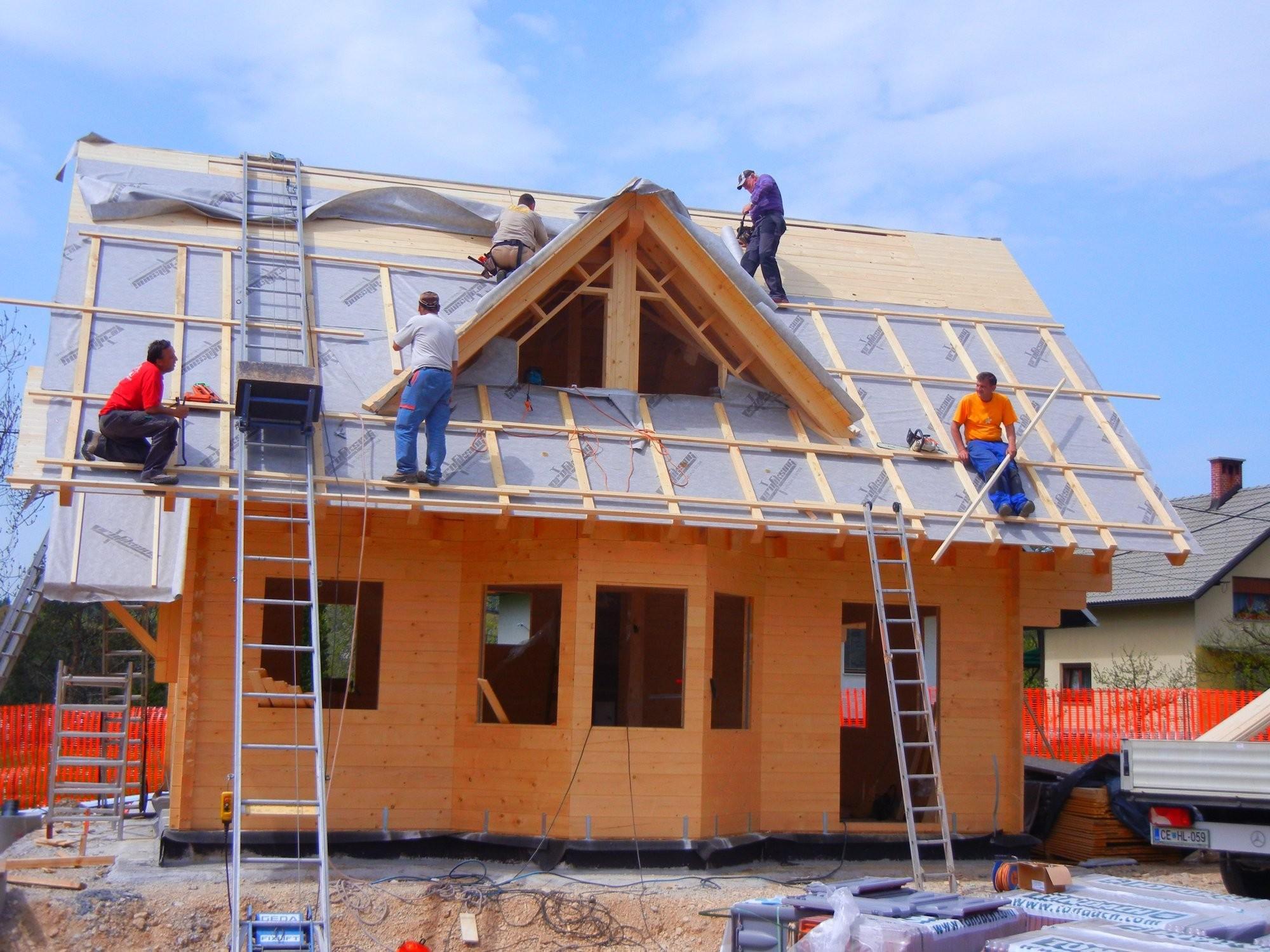 Lesena konstrukcija hiše Loghouse