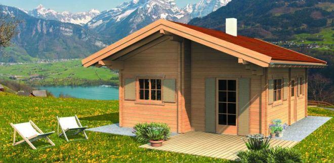 Lesena počitniška hiša