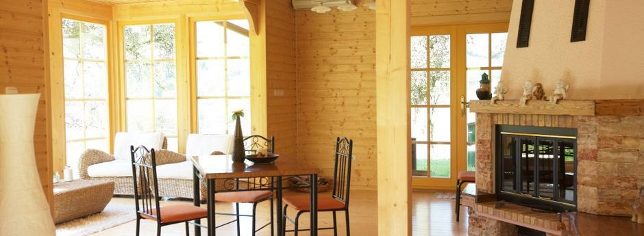 Lesena montažna hiša cena