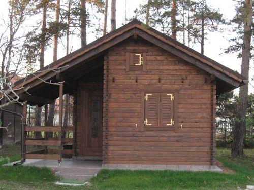 Načrt lesene brunarice