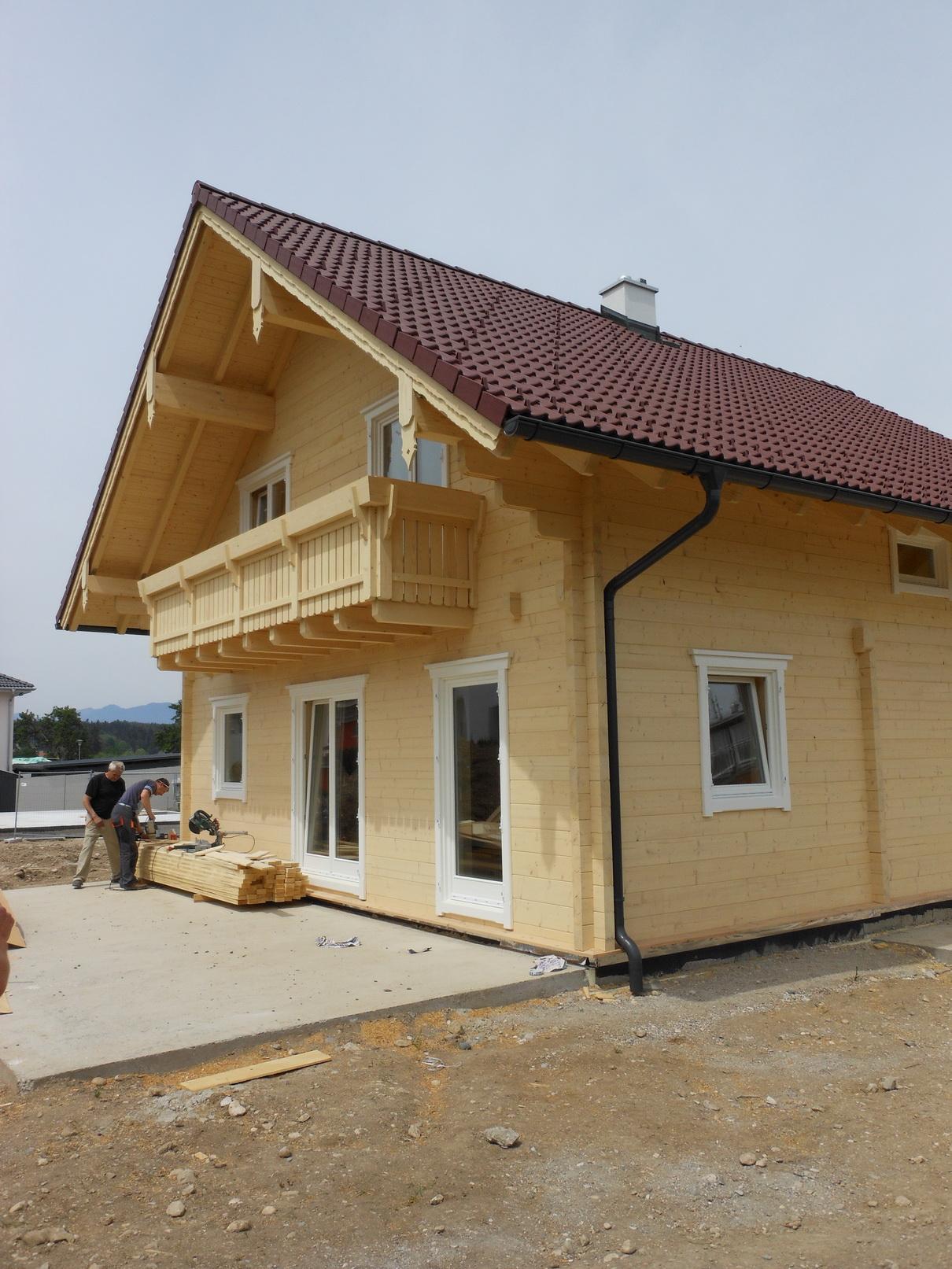 samogradnja lesene hiše