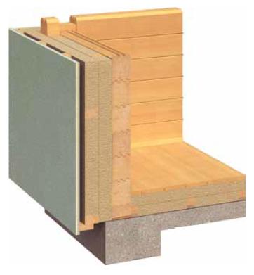 Zunanja izolacija za lesene hiše