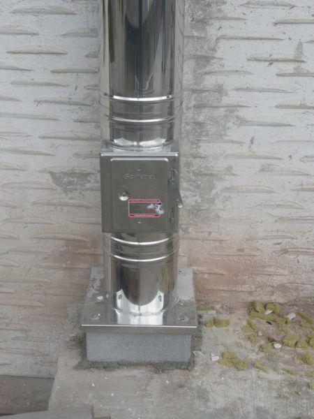 vgradnja nerjavečega inox dimnika