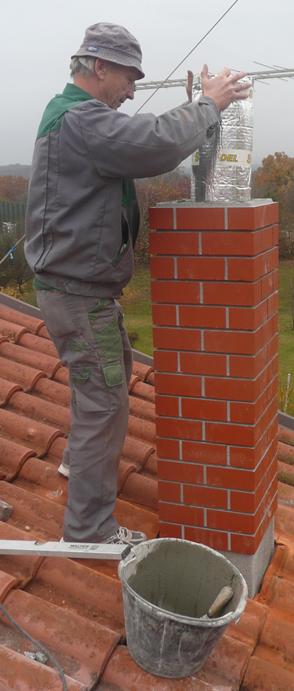 Obnova dimnika z inox cevjo