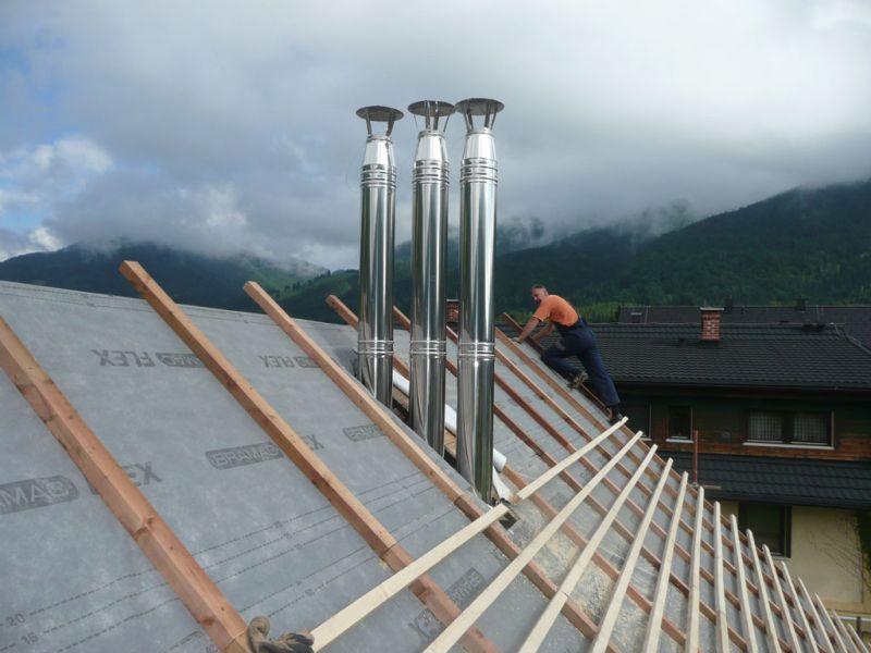 Streha za dimnik ob diamantnem vrtanju