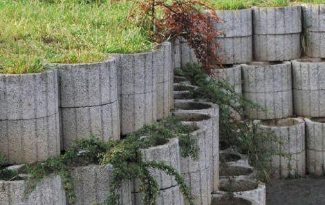 Okrogla betonska škarpnica