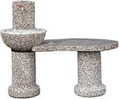 vrtni vodnjak Drava z odložno mizo