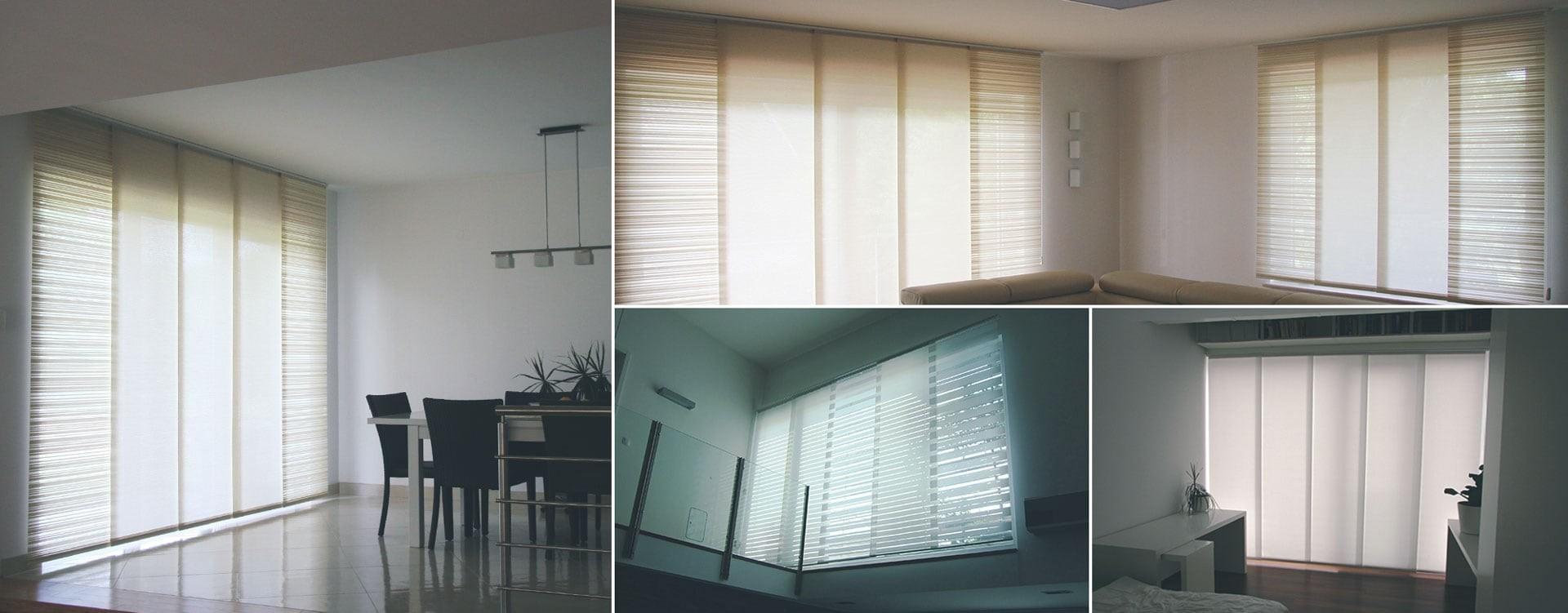 Panelne in lamelne zavese primerne tako za dom kot za poslovne prostore