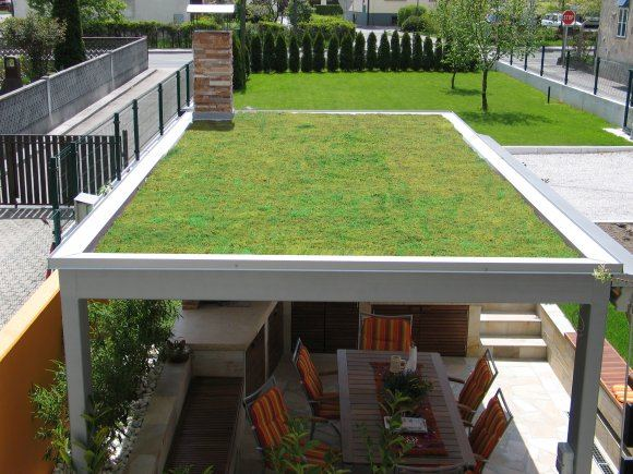 Zelene ravne strehe