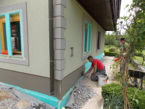 Izolacija temelja hiše Fibran Nord