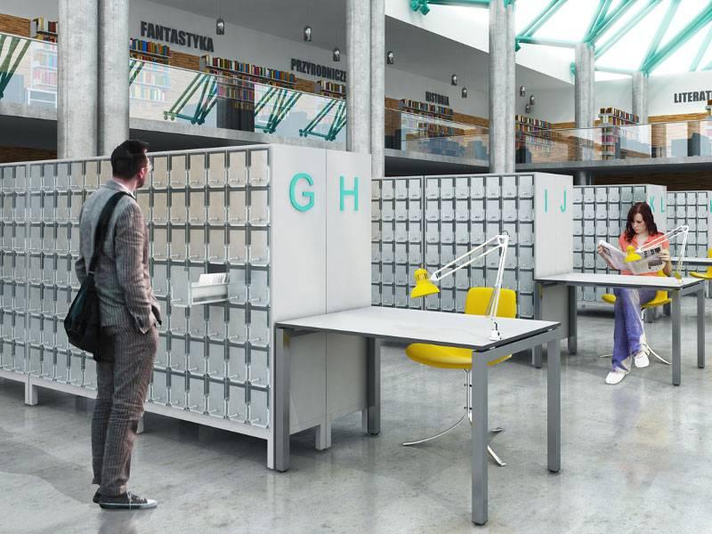 Kovinsko pohištvo za knjižnice in arhive
