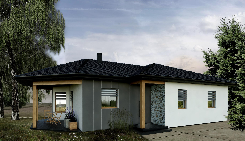 Atrijske montažne hiše