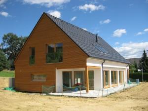 lesena gradnja hiše