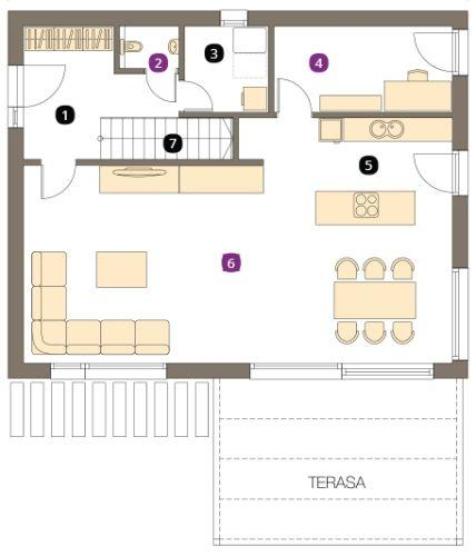 načrti za pritlične hiše