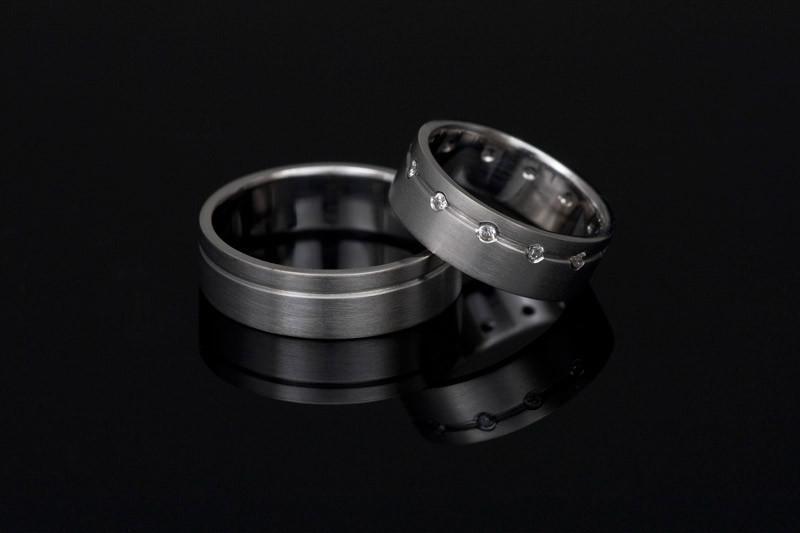 Srebrni poročni prstani za moške