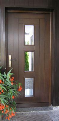Lesena vhodna vrata po naročilu