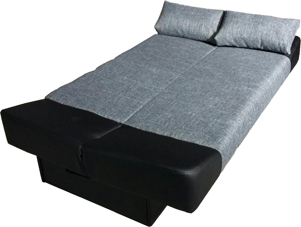 usnjena sedežna garnitura s posteljo za goste