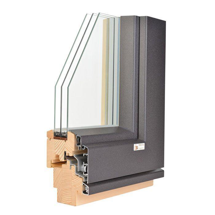 aluminij les okna kli