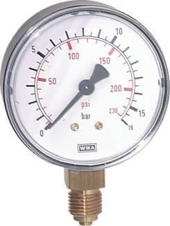 merjenje tlaka z manometrom