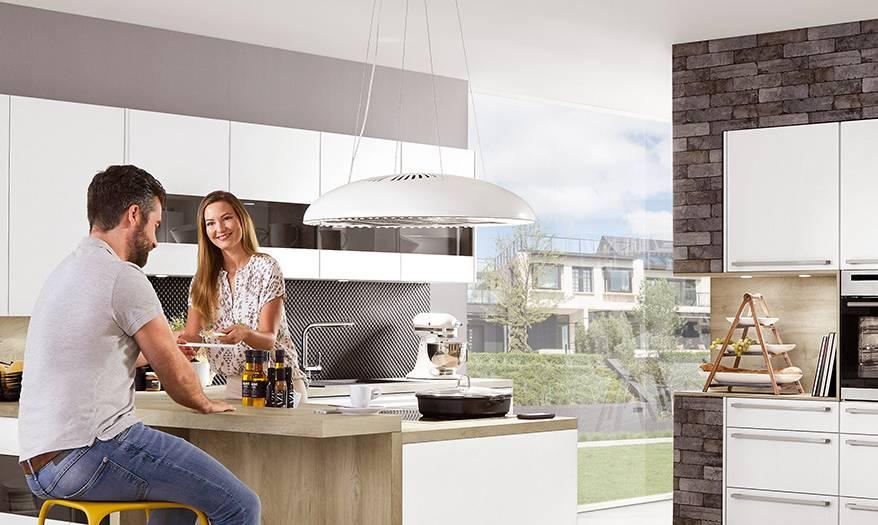 viseča kuhinjska napa krožne oblike