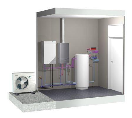 montaža toplotne črpalke zrak voda