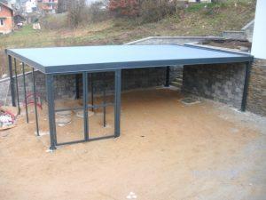 Začetek gradnje in izdelava kritine ravne strehe