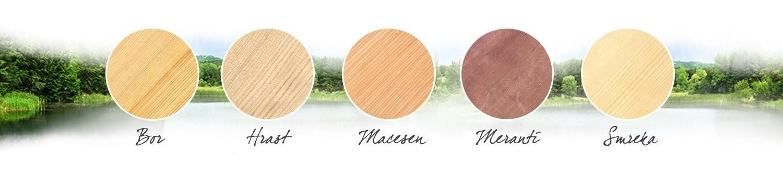 barve lesenih oken Marles