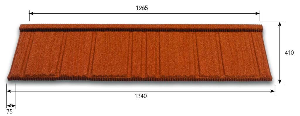 Oblika kovinskih strešnikov