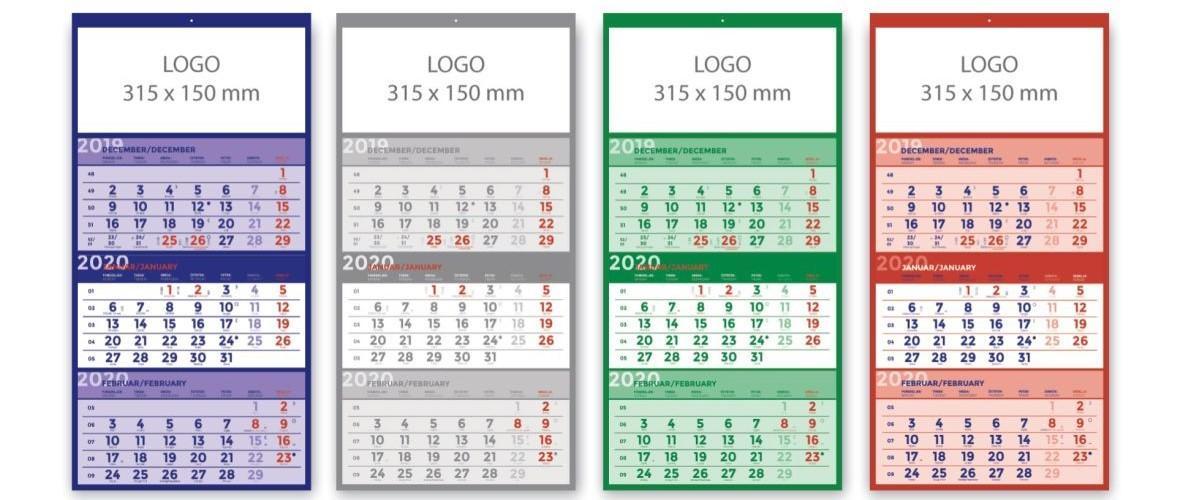 Tridelni koledarji po naročilu