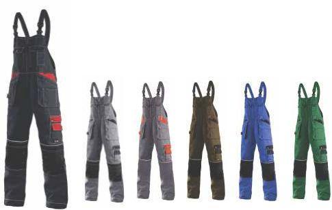 Delovne hlače z naramnicami in elastiko