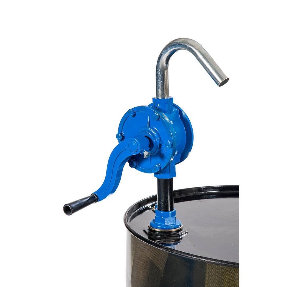 Aluminijasta rotacijska ročna črpalka primerna za črpanje nafte, bencina ali olja.
