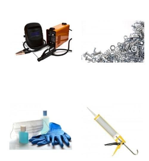 Lepilni trakovi, maske, zaščitna oprema in drug tehnični program