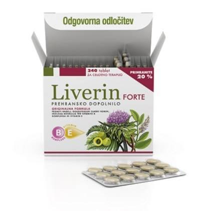 Liverin forte učinkovito razstruplja jetra