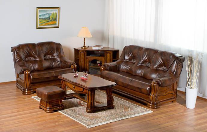 Usnjene sedežne garniture za dnevne sobe