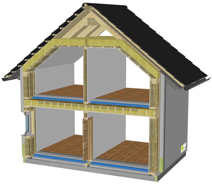izdelava nizkoenergijskih montažnih hiš Javušnik