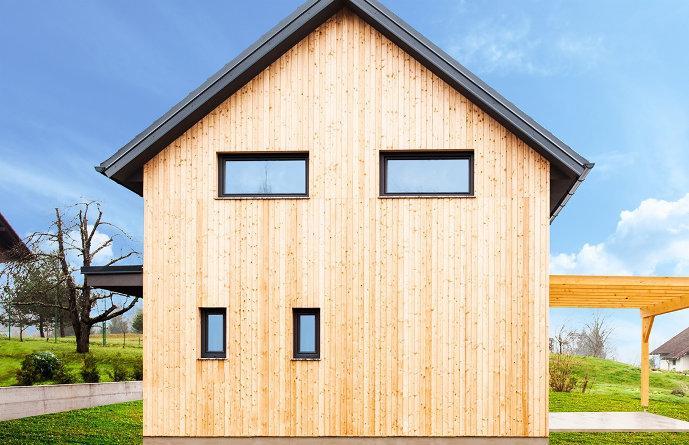 eko lesena hiša