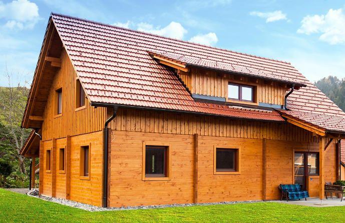 lesena hiša iz brun (načrt)