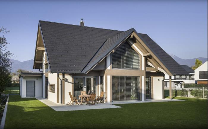 nizkoenergijska montažna mansardna hiša Javušnik