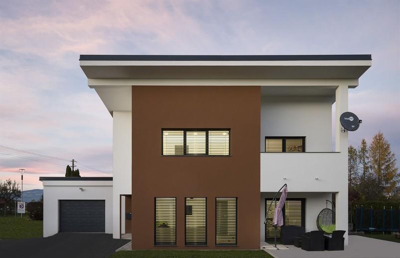 nizkoenergijske hiše z ravno streho